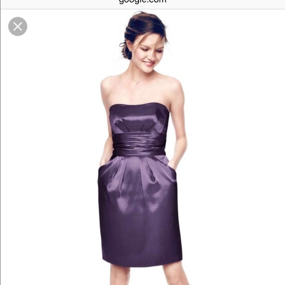 David\'s Bridal Dresses | Davids Bridal Dark Purple Dress With ...